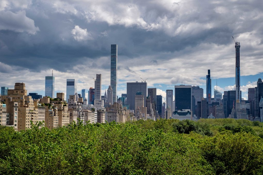View on a Midtown Manhattan and Central Park