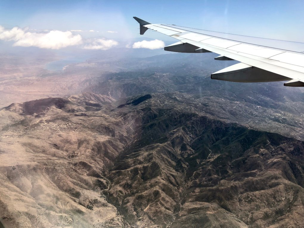 Flying over Arizona