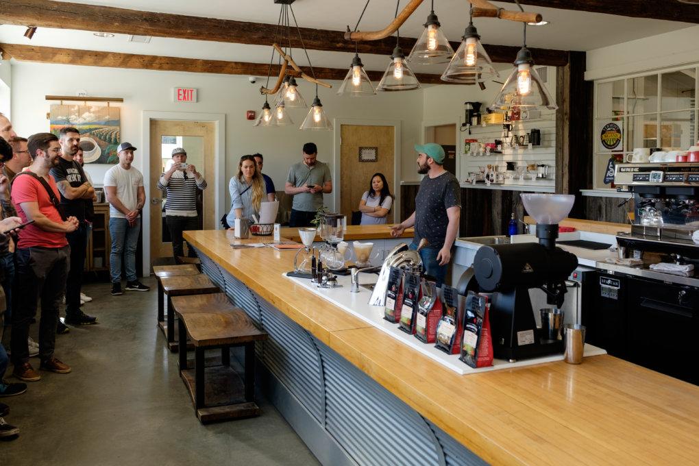Coffee bar at Vermont Artisan Coffee & Tea Co.